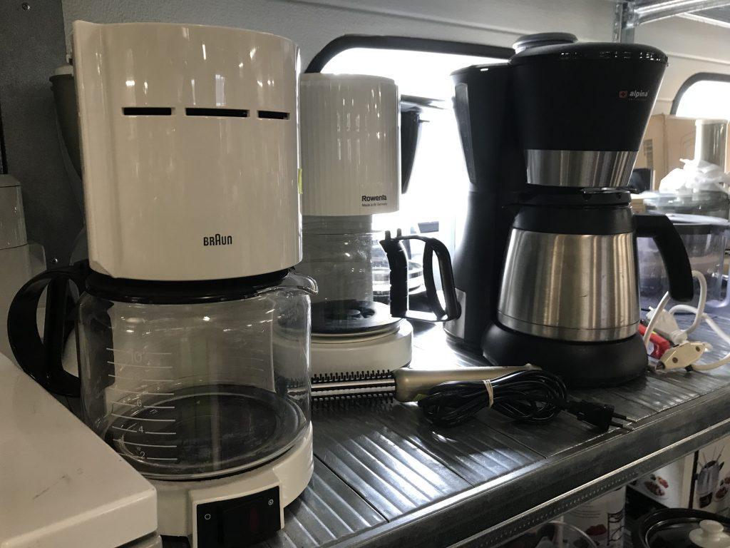 Bijvoorbeeld koffiezetapparaten.